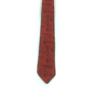 Vintage  Disney Tie Works Donald Duck Red
